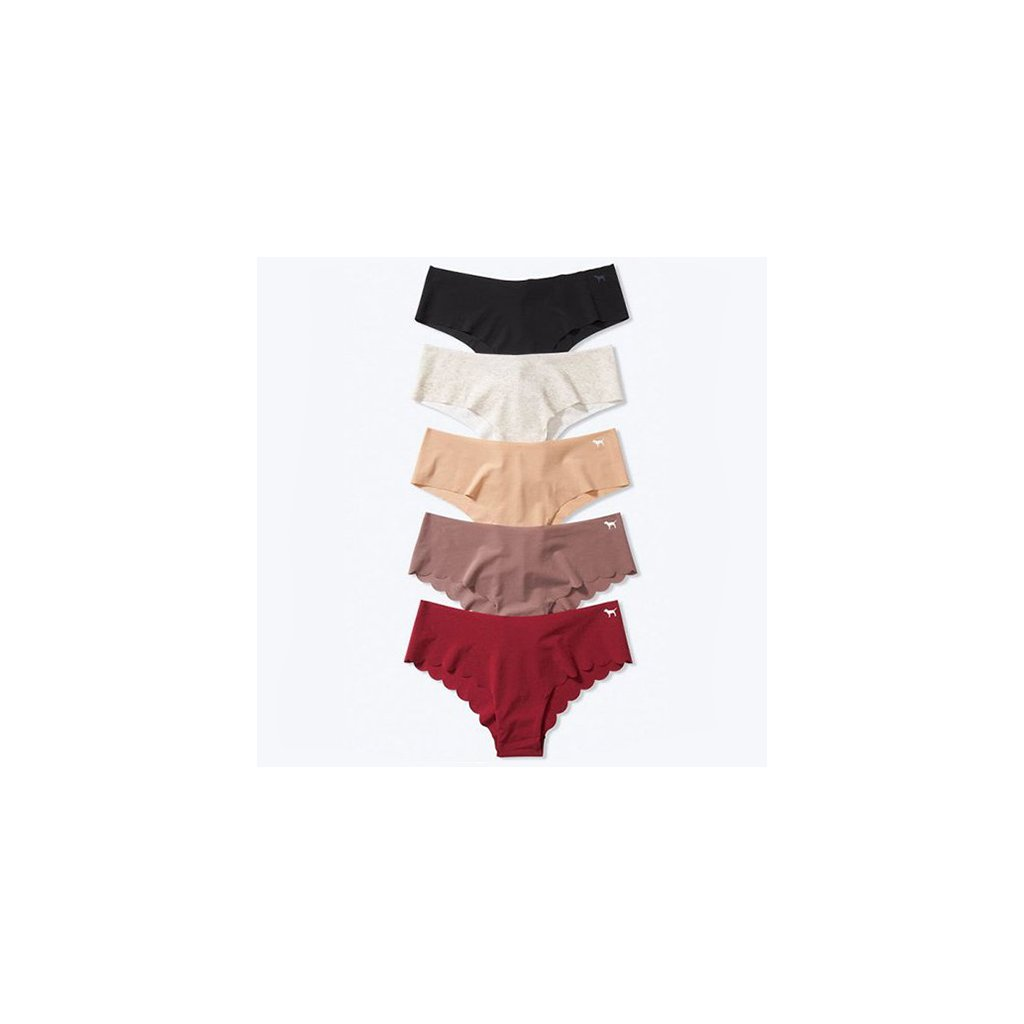 Victoria's Secret PINK 5-pack Basic Red No Show Cheeksters