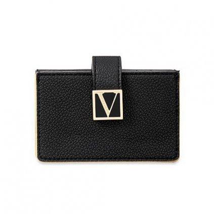 Victoria's Secret černé pouzdro na karty a doklady The Victoria Expandable Card Case