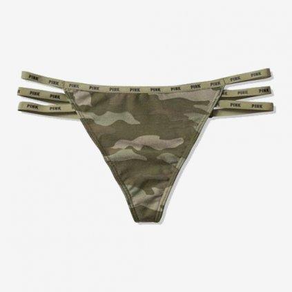 Victoria's Secret PINK sexy maskáčová tanga s průstřihy
