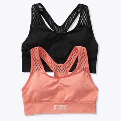 Victoria's Secret PINK bezešvé sportovní podprsenky duopack I.