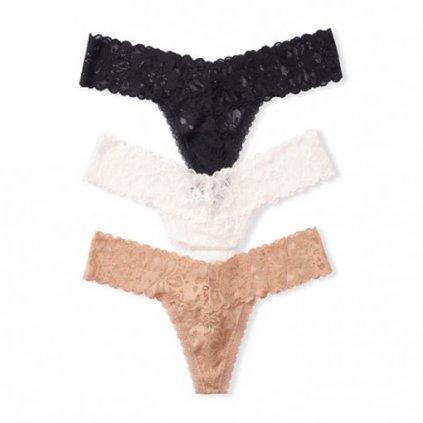 Victoria's Secret  3-pack Lace Thong Panties