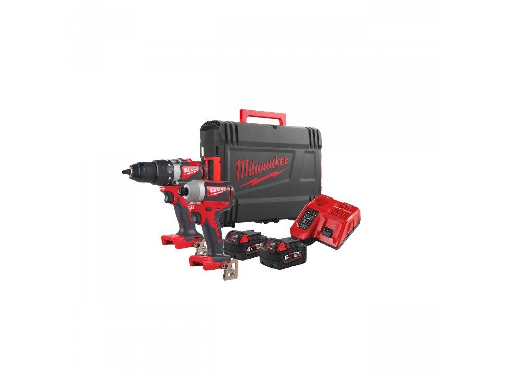 Milwaukee M18 BLPP2B2-502X, M18™ bezuhlíkový set nářadí