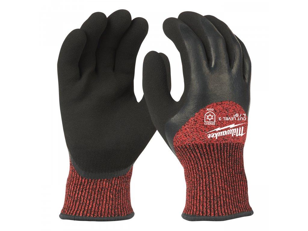 Zimní rukavice odolné proti proříznutí Stupeň 3 - vel L/9 - 1ks