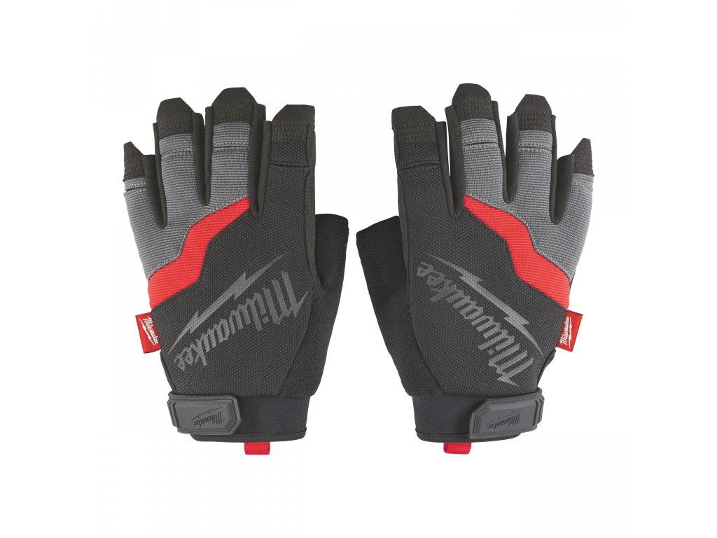 Pracovní rukavice bez prstů L