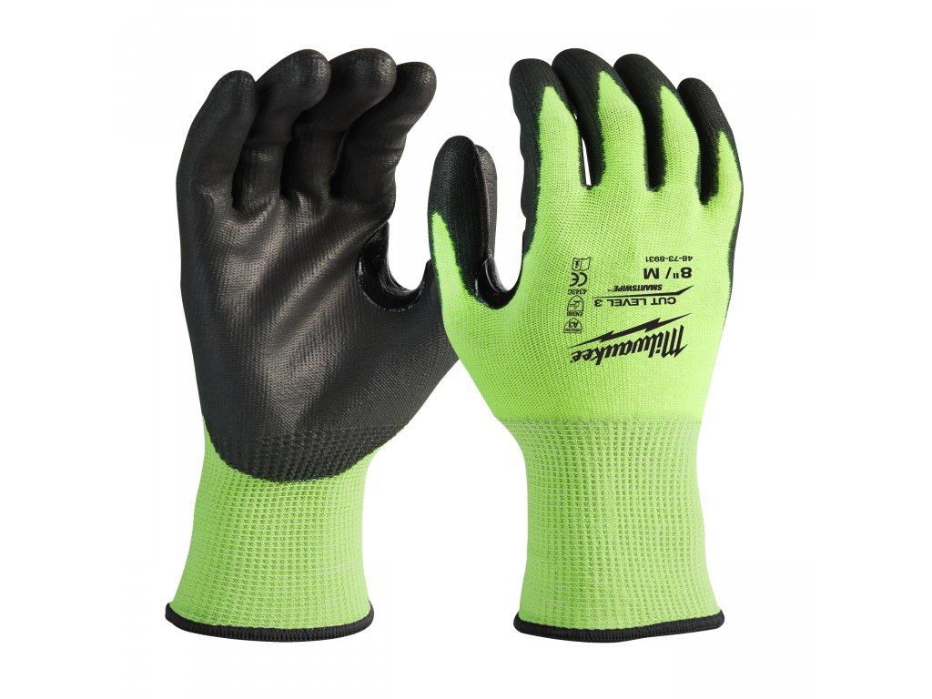 Reflexní rukavice odolné proti proříznutí Level 3 - vel M/8