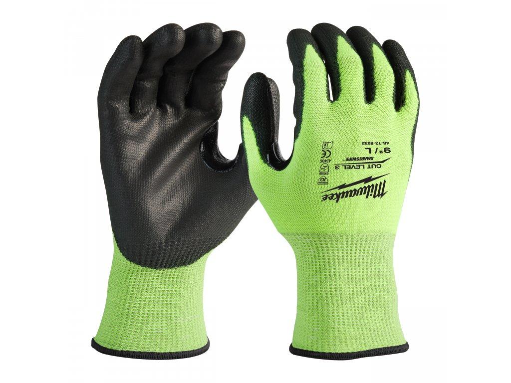 Reflexní rukavice odolné proti proříznutí Level 3 - vel L/9