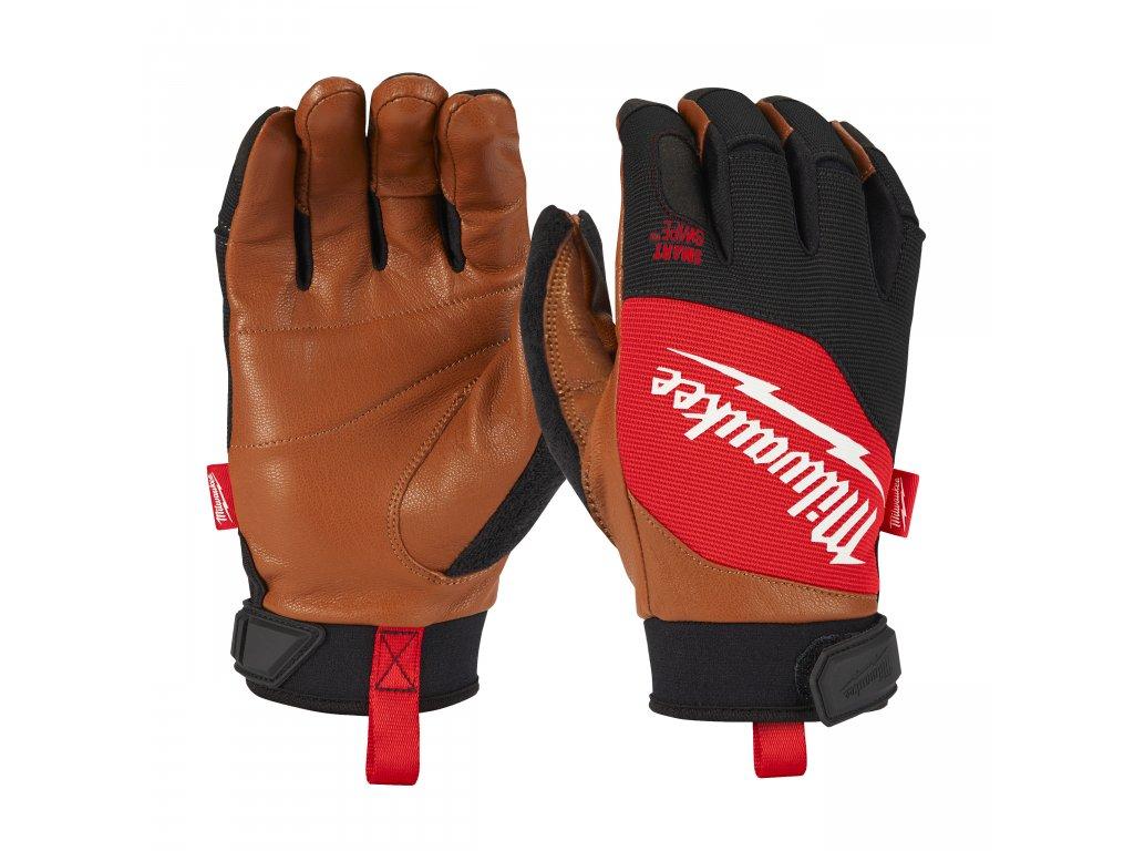 Kožené kombinované pracovní rukavice - vel M/8