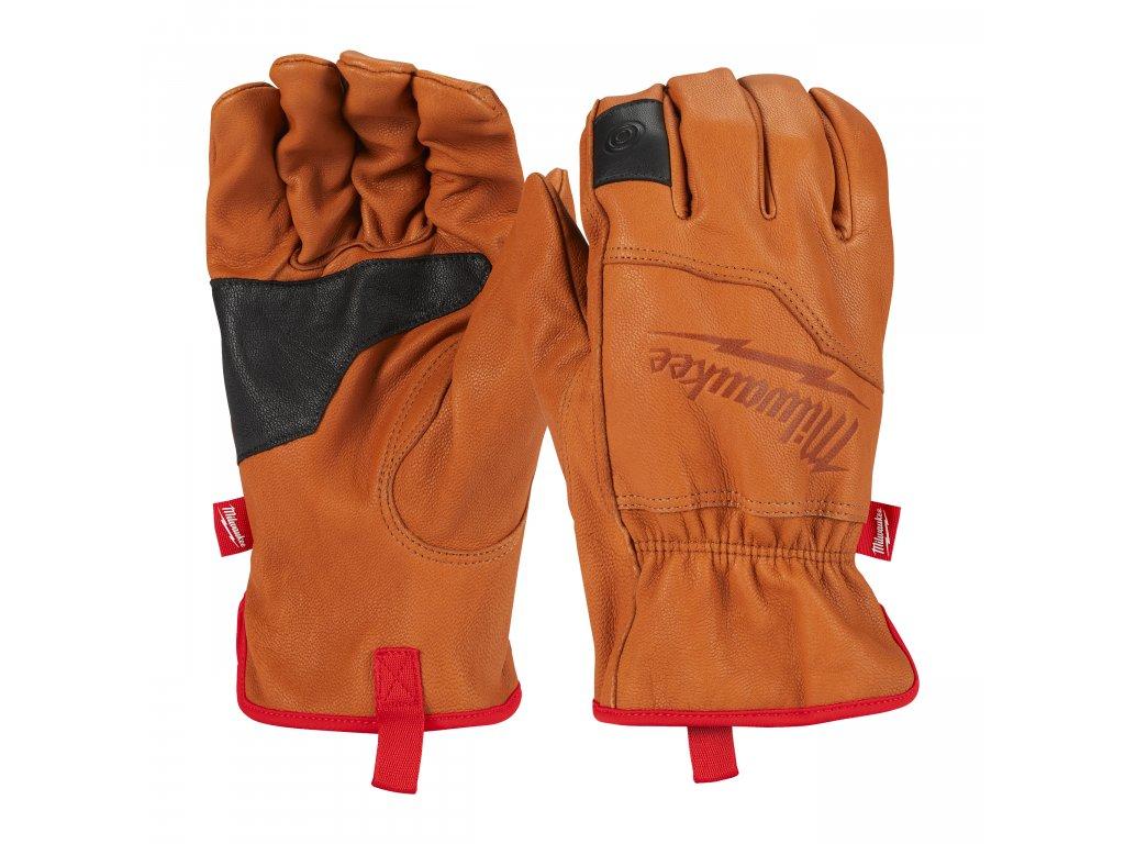 Kožené pracovní rukavice - vel M/8