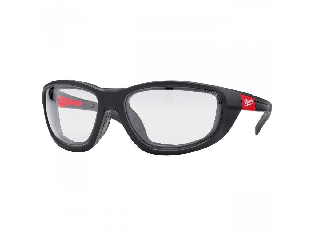 Premium ochranné brýle čiré s těsnící vložkou