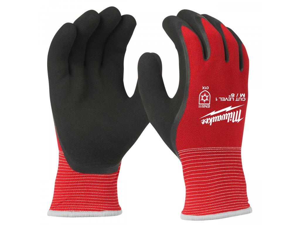 Zimní rukavice odolné proti proříznutí Stupeň 1 - vel L/9 - 1ks