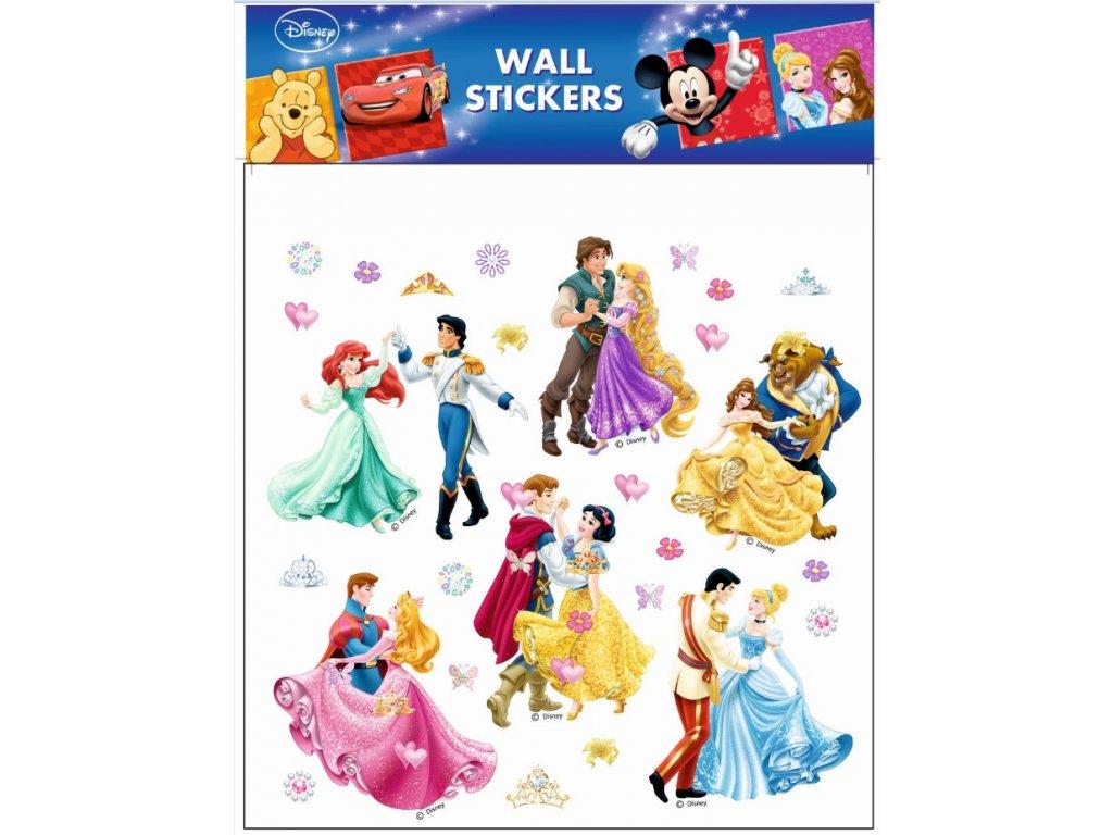 Samolepky na zeď Disney Princezny tančící 30x30cm