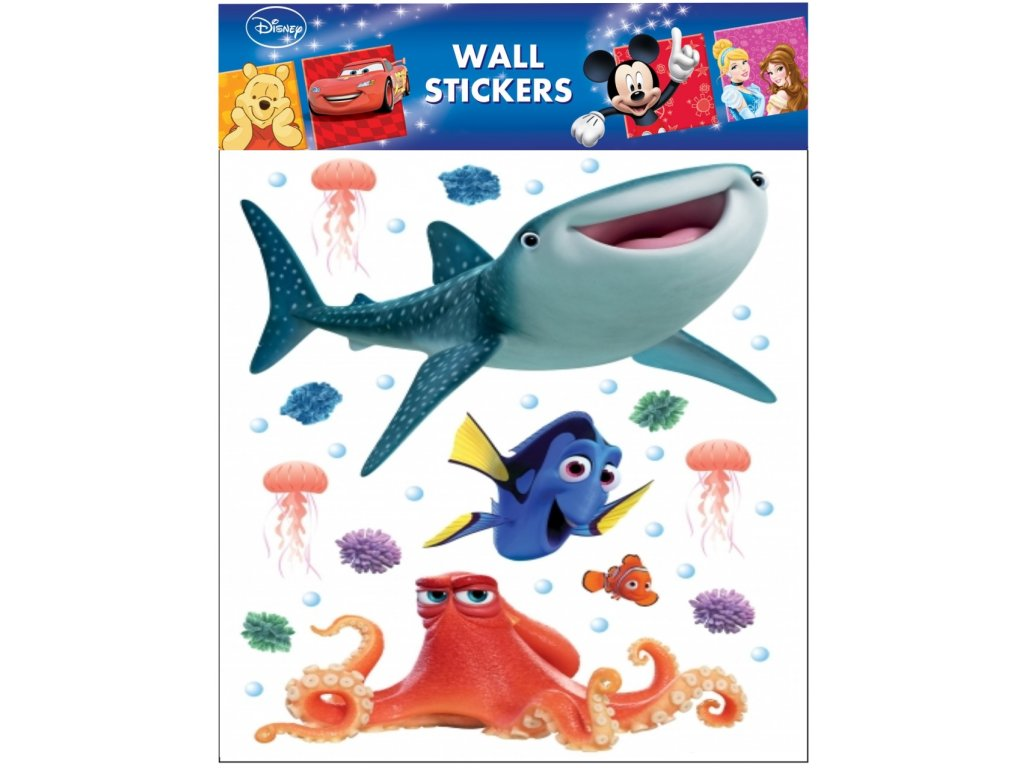 Samolepky na zeď Disney Hledá se Dory 30x30cm