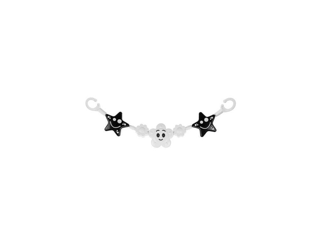 Profibaby Zábrana hvězdička - kytička černobílá