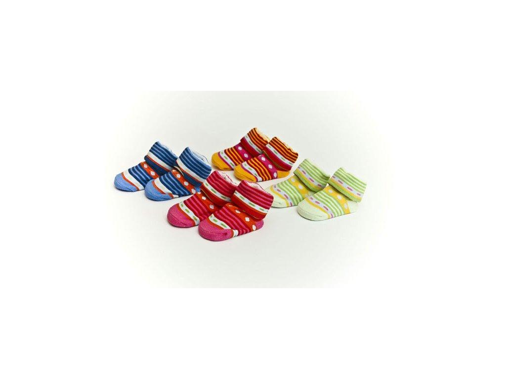 Ponožkykojenecké Bobobaby s proužkem 0-6 měsíců