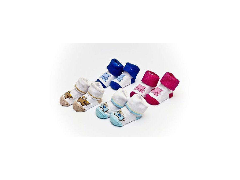 Ponožky dětské Bobobaby se zvířátkem 0-6 měsíců