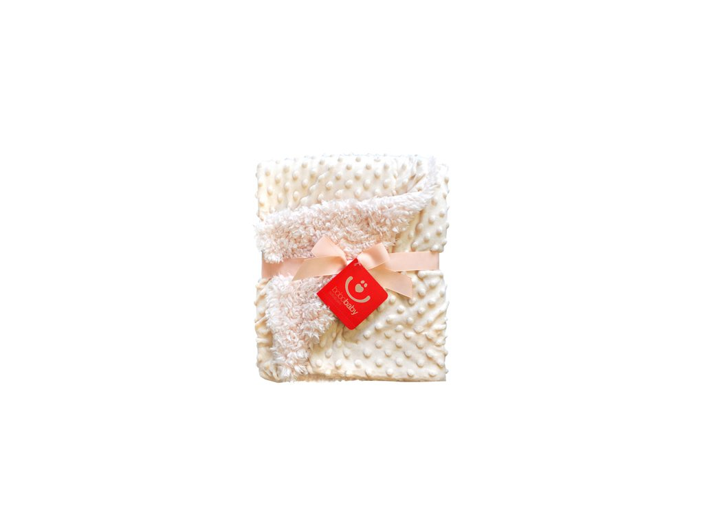 Dětská deka dvouvrstvá BUBBLE - mink KCSN-34 béžová