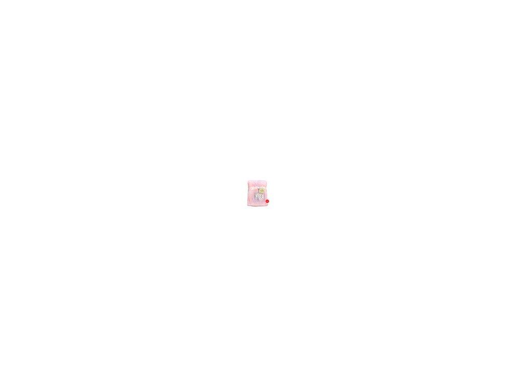Deka dětská KCSN-19 Bobobaby v dárkovém boxu růžová