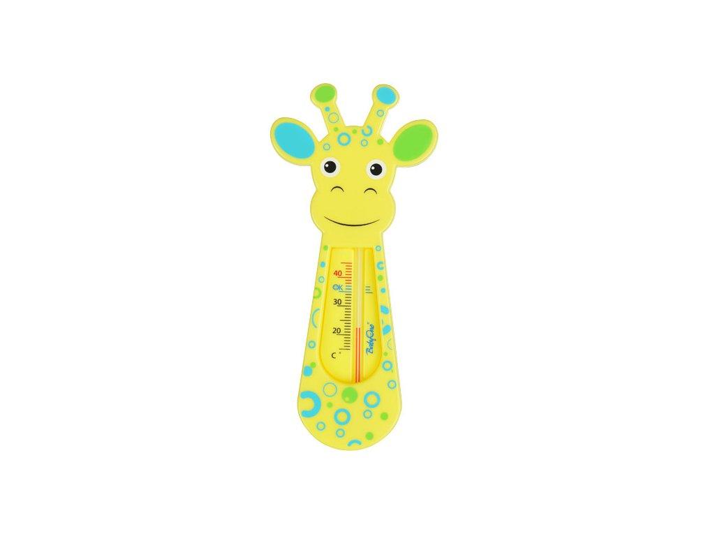 Teploměr do vaničky žirafa žlutá BabyOno