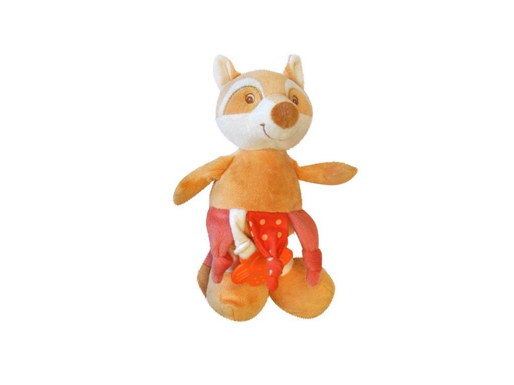 Plyšová hračka s kousátkem a chrastítkem liška ZW-10 Bobobaby