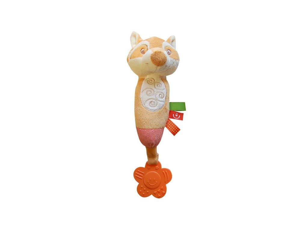 Bobobaby plyšová hračka s kousátkem liška ZW-13