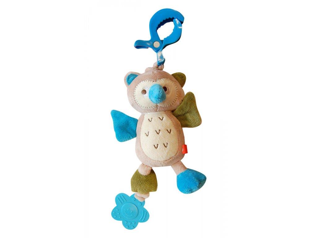 Bobobaby vibrující plyšová hračka s kousátkem sova ZW-15