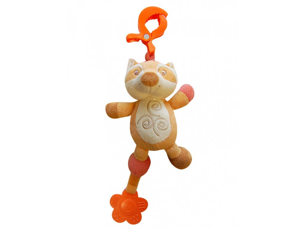 Bobobaby vibrující plyšová hračka s kousátkem liška ZW-16