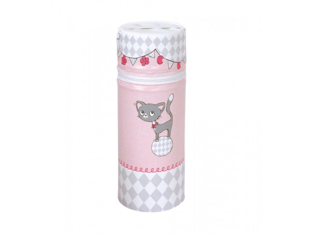 Termoobal na kojeneckou láhev Standard Růžové kočičky
