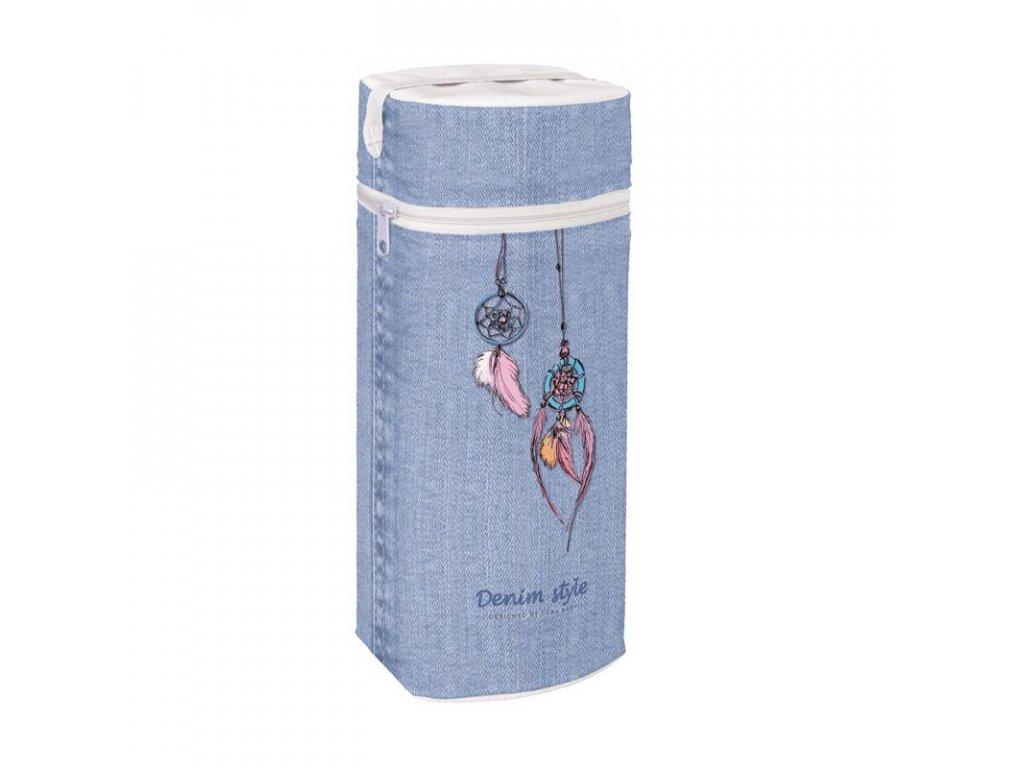 Termoobal na kojeneckou láhev Jumbo Denim Style Dream Catcher blue Ceba