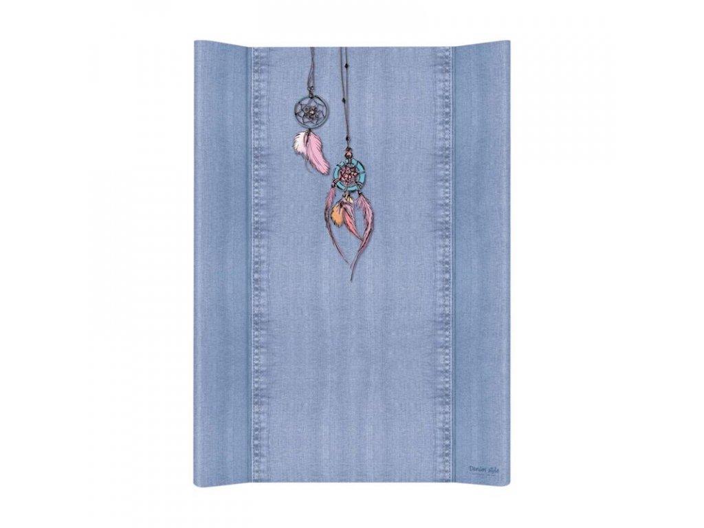 Podložka přebalovací měkká 2-hranná 70x50 cm Denim Style Dream Catcher blue Ceba