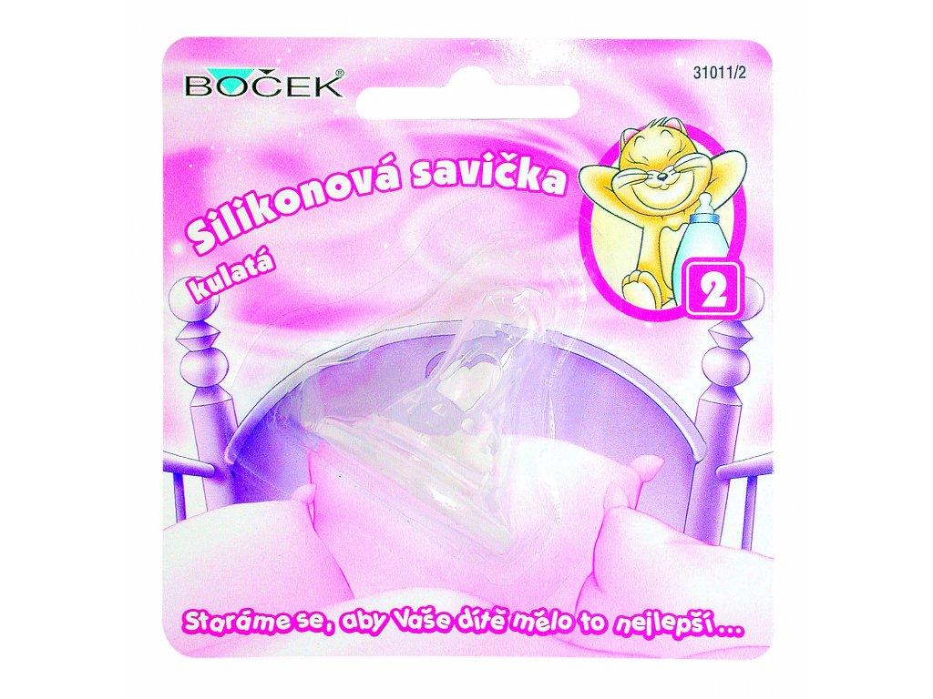 BOČEK Savička silikon kulatá - mléko