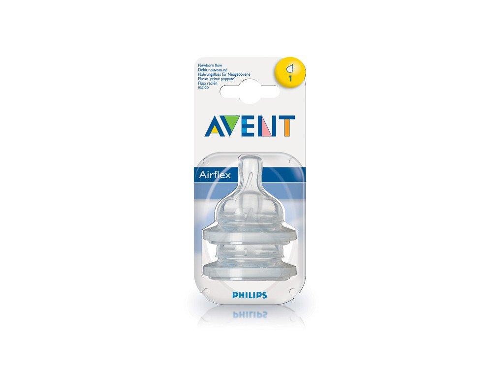 Philips Avent Dudlík Airflex 1 otvor 2ks