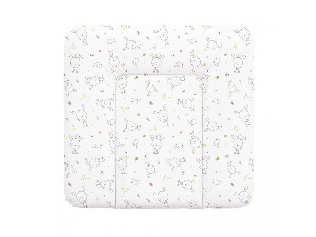 Přebalovací podložka na komodu 75 x 72 cm Dream puntíky bílá