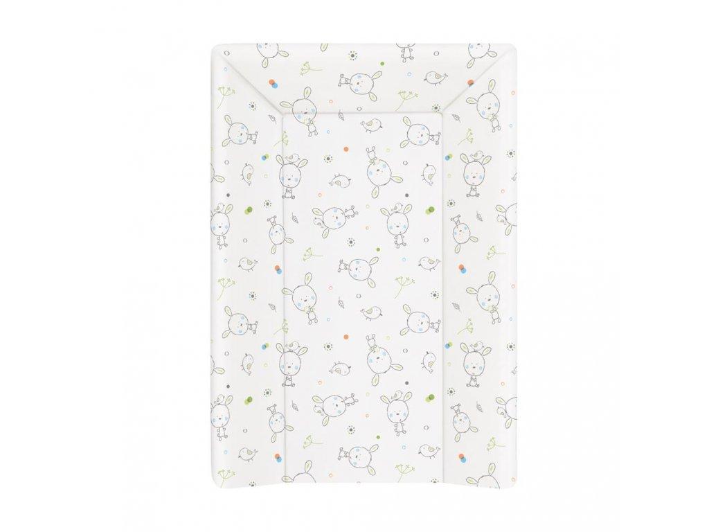 Přebalovací podložka MDF 3 hran. 70 cm Dream puntíky bílá