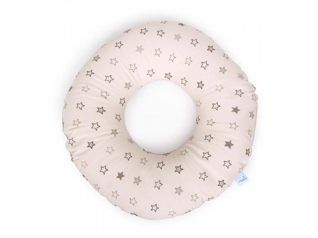 Polštář poporodní kruh Hvězdy béžové
