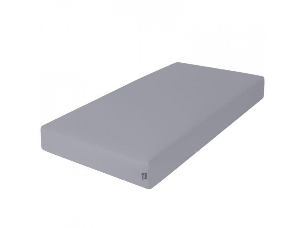 Prostěradlo Žerzej napínací s gumou 120x60cm tmavě šedá