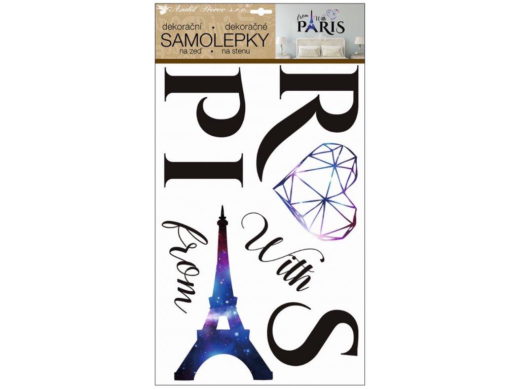 Samolepky na zeď Paris 50 x 32 cm