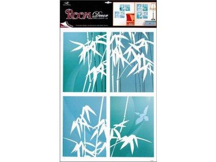 Pokojová dekorace samolepící bambus  4 obdélníky 70x42cm