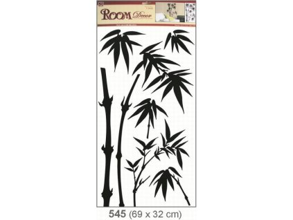Pokojová dekorace černá 69x32 cm - bambus Anděl