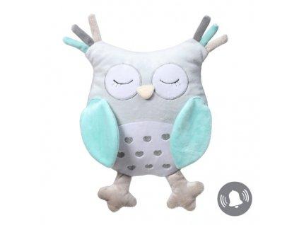 Plyšová hračka sova babyono modrá