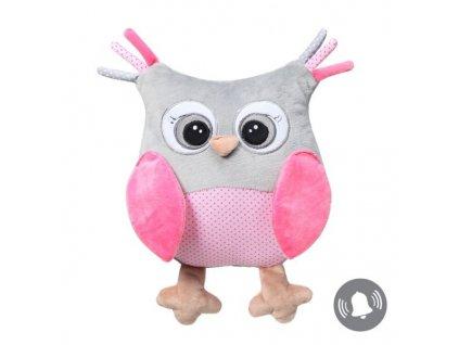 Plyšová hračka sova babyono růžová