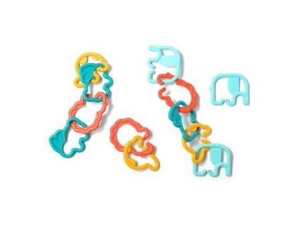Plastové prvky-kroužky zvířátka babyono