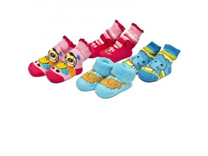 Ponožky kojenecké se zvířátkem Bobobaby 0-6 měsíců