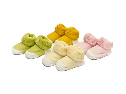 Ponožky kojenecké froté BS-28 Bobobaby 0-6 měsíců