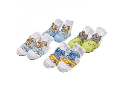 Kojenecké ponožky se zvířátkem Bobobaby 0-6 měsíců