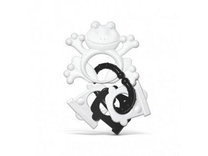 Profibaby Kousátko s přívěsky černobílé