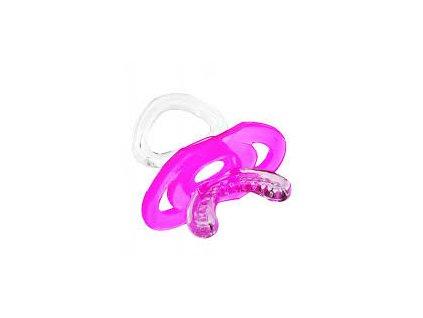 Silikonové masážní kousátko chladící dudlík s krytem Baby Ono růžové