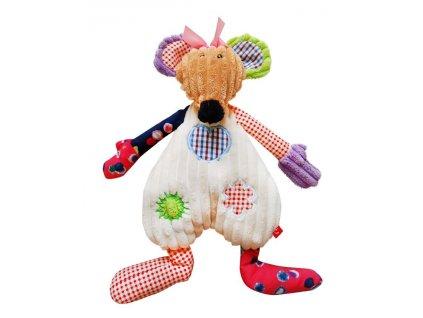 Patchworková hračka myška látková Bobobaby