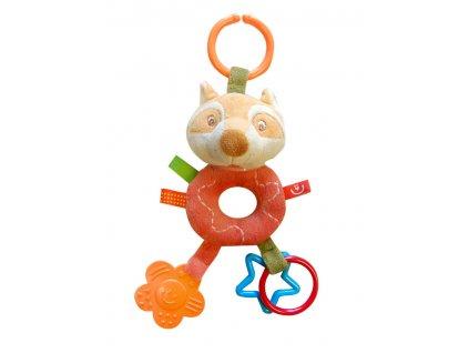 Plyšová hračka s kousátkem závěsná liška ZW-7 Bobobaby