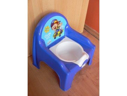 Nočník stolička s víkem Orion modrý