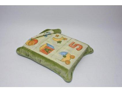 Španělská deka 80x110 cm Bobobaby ABC zelená